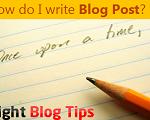 How Do I Write a Blog Post
