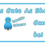 Blogger Widget Flying Twitter Bird