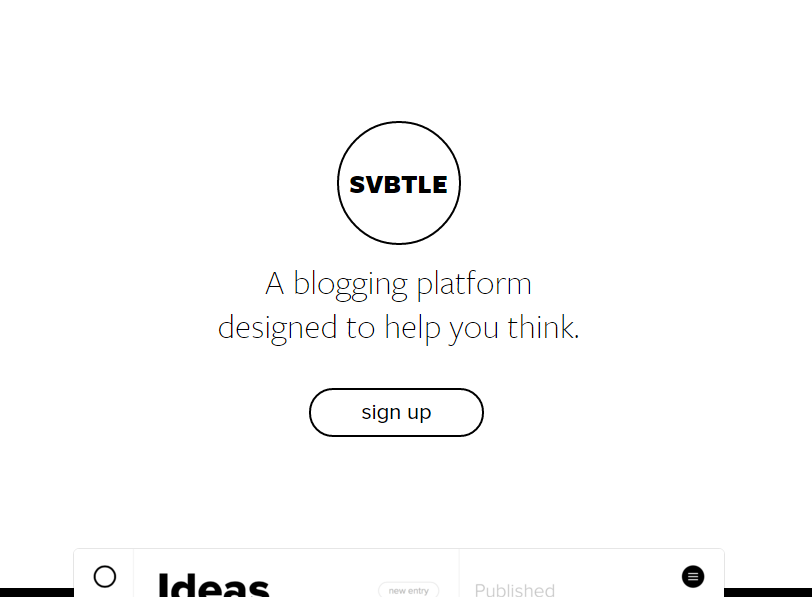 Svbtle blogging platform