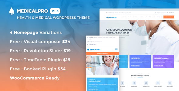 Health WordPress Themes: MedicalPro