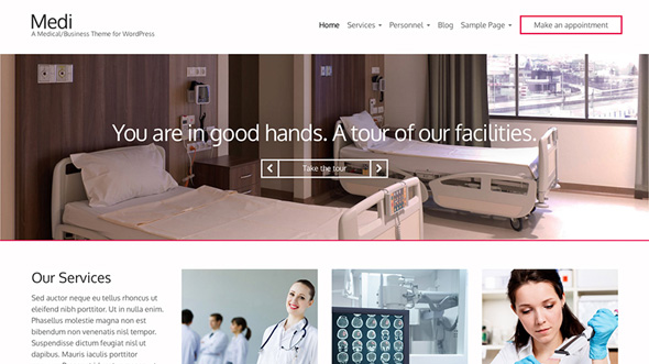 Health WordPress Themes: medi