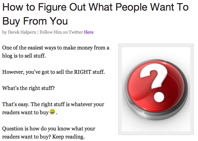 How to Figure Out What People Want to Buy from You
