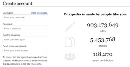 setting up a wikipedia account
