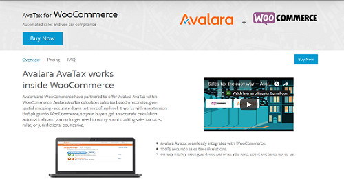 WooCommerce plugins- WooCommerce AvaTax