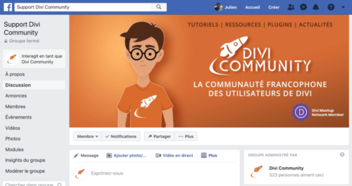 French Divi Facebook group