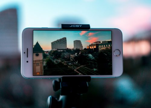 Iphone being used to record videos